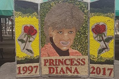 Welsh borough's floral Princess Diana tribute mocked
