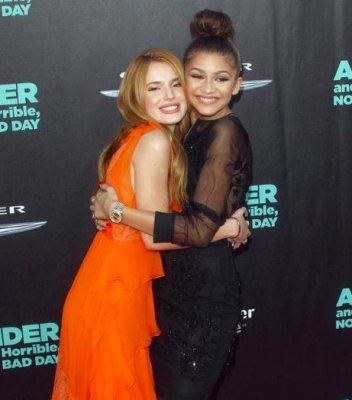 Zendaya Coleman supports former co-star Bella Thorne at film premiere