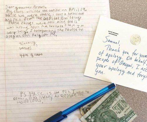 Oregon gov. 'pardons' boy who apologized for taking pen, hazelnut