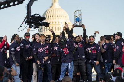 Washington Nationals fans celebrate World Series win at parade