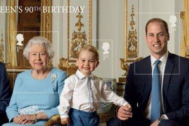 Prince George appears on new stamp for the Queen's birthday