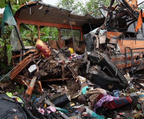 Fiery bus crash leaves at least 50 dead in Ghana