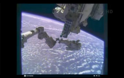 Astronauts attempt to replace faulty pump on Christmas Eve spacewalk