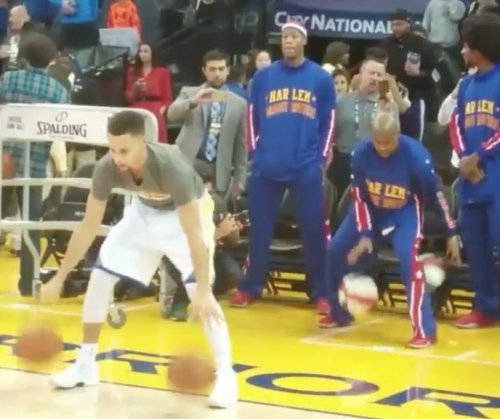 Harlem Globetrotters can't copy Stephen Curry's pregame dribble