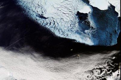 Beautiful Bering Strait image captured by Copernicus Sentinel-3A satellite