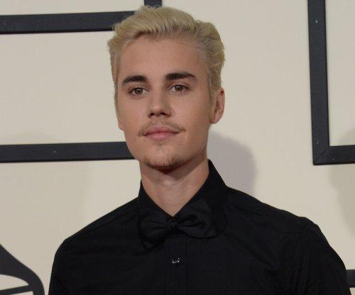 Justin Bieber performs with Ariana Grande at Coachella