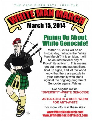 The 'White Man March' is coming to a city near you on Saturday