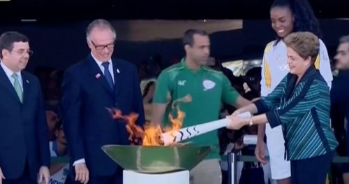 Olympic torch begins journey around Brazil