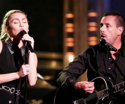 Miley Cyrus, Adam Sandler perform 'No Freedom' for Las Vegas victims