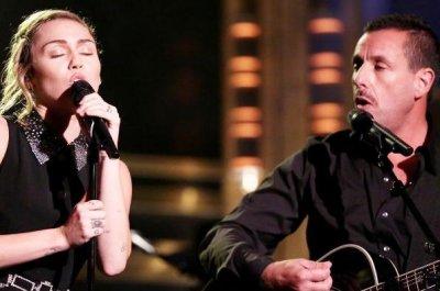 Miley Cyrus, Adam Sandler perform 'No Freedom' for Las Vegas victims