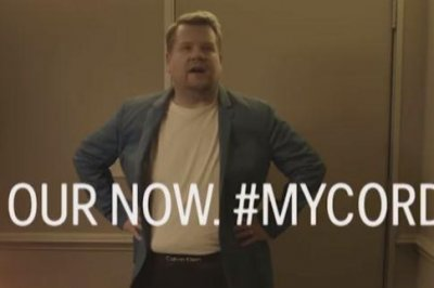 James Corden parodies Calvin Klein ad with Shawn Mendes