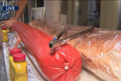 Eatery seeks Guinness record for 120-pound all-beef hot dog