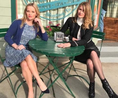Reese Witherspoon, Laura Dern reunite on 'Big Little Lies' set