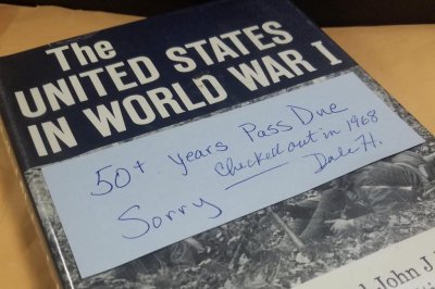 Overdue library book returned 50 years later