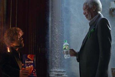 Freeman, Dinklage have lip-sync rap battle in Super Bowl ad
