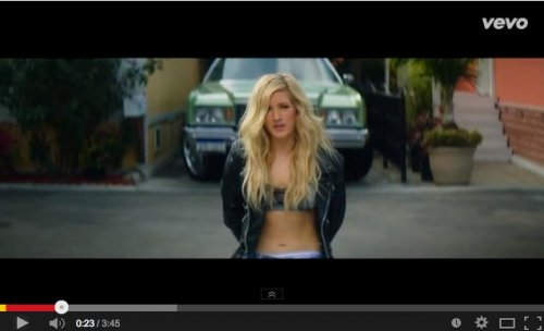 Calvin Harris, Ellie Goulding debut music video for 'Outside'