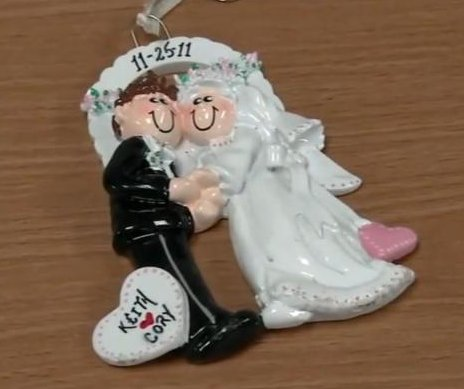 Police reunite couple with ornament thrown out with tree