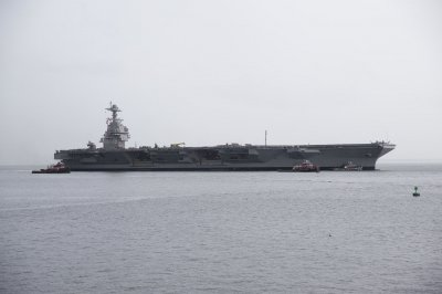 Ford aircraft carrier departs to Newport News for planned maintenance