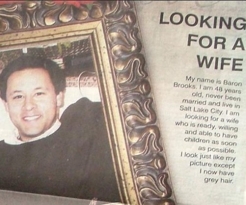 Dad seeks 'wife' for 48-year-old son with full-page newspaper ad