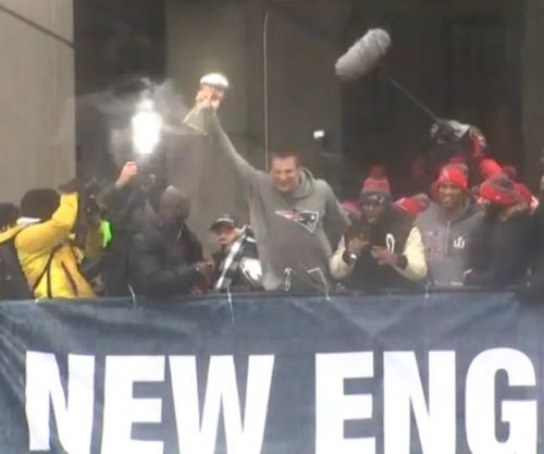 New England Patriots, fans celebrate Super Bowl victory at Boston parade