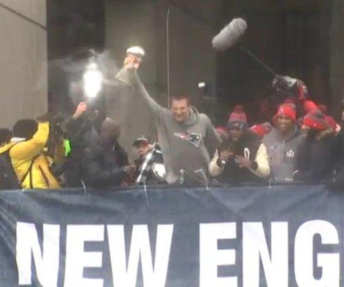 New England Patriots, fans celebrate Super Bowl victory at Boston parade