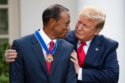 President Donald Trump awards Tiger Woods Presidential Medal of Freedom