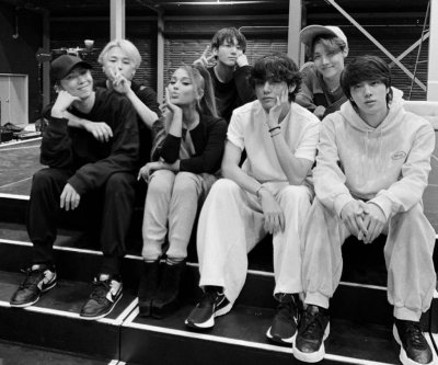 Ariana Grande, BTS link up at Grammys rehearsal