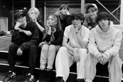 Ariana Grande, BTS link up at Grammys rehearsal