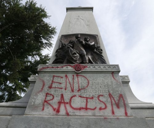 Confederate statue in St. Louis sprayed with graffiti -- again