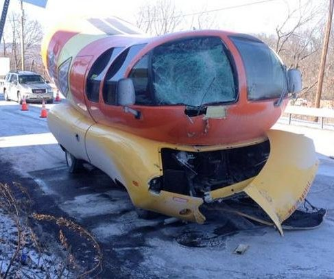 Oscar Mayer Weinermobile crashes in Pennsylvania