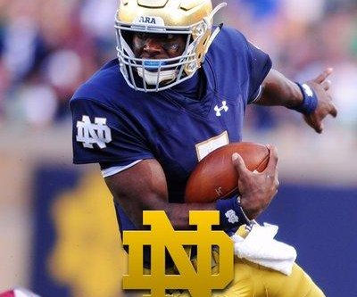 No. 21 Notre Dame handles UNC with backup QB
