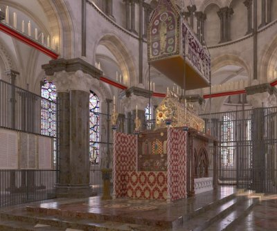 Digital reconstruction shows Saint Thomas Becket's shrine in stunning detail
