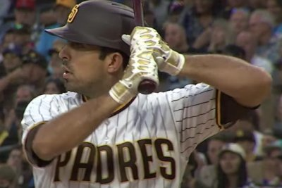 Padres pitcher Daniel Camarena hits grand slam for first career hit