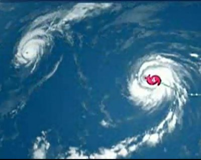Two Category 4 hurricanes detected east of Hawaii, third spotted to the west