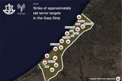 Israel strikes Gaza in retaliation for rockets launched at Tel Aviv