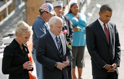 Obama, McCain speak on national service