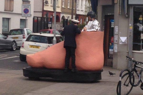 Car Shows In Florida >> Look: Giant foot drives the streets of Wandsworth, England