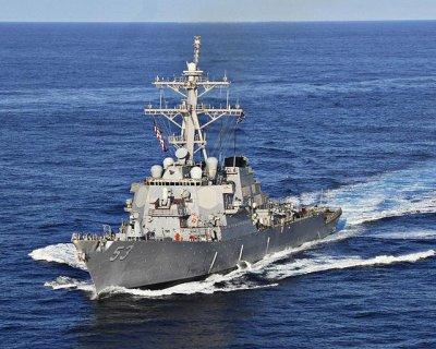Destroyer conducts Aegis tests with upgraded combat system