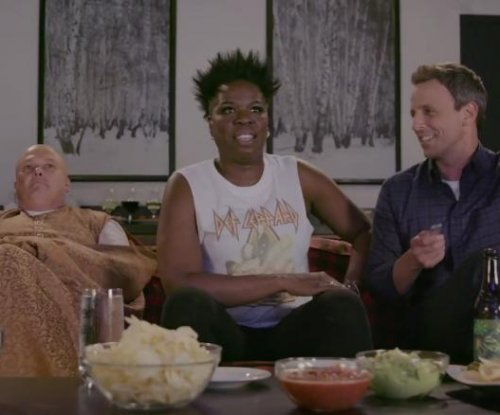 Leslie Jones has 'Game of Thrones' viewing party with Seth Meyers
