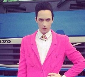 Johnny Weir's colorful Sochi outfits are inspired by Stanley Tucci's 'Hunger Games' character