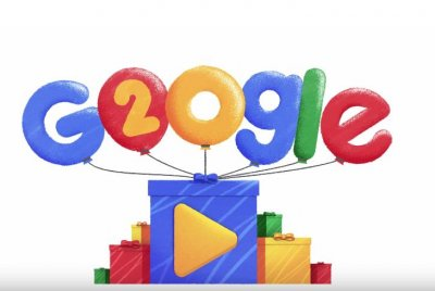 Google celebrates 20th birthday with retrospective Doodle