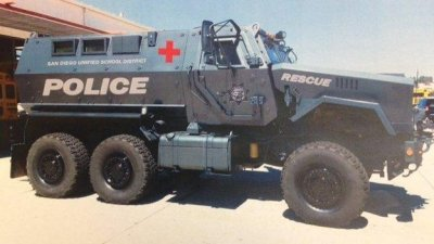 Southern California school district to get rid of military vehicle