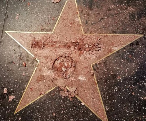Donald Trump's Walk of Fame star destroyed by vandal in disguise