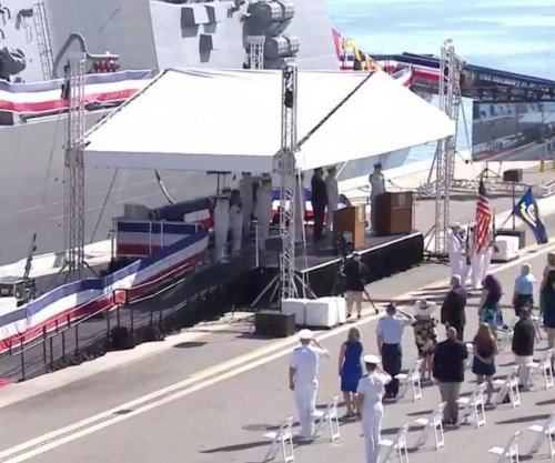 USS Delbert Black commissioned at private ceremony