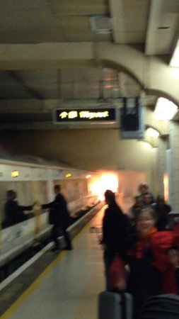 Fire sends people fleeing at Charing Cross train station