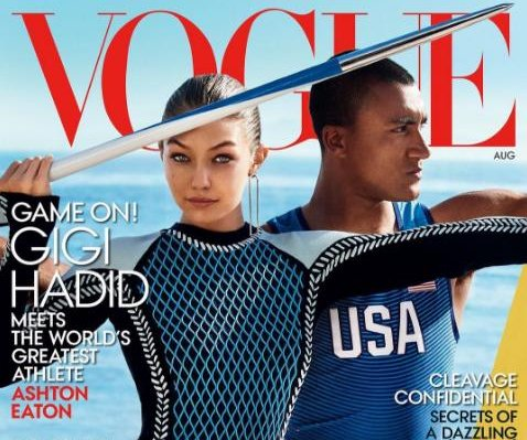 Gigi Hadid covers Vogue with Olympian Ashton Eaton
