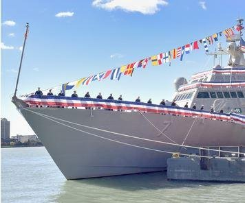 U.S. Navy commissions new combat ship, USS Detroit