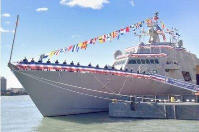 U.S. Navy commissions new combat ship, USS Detroit