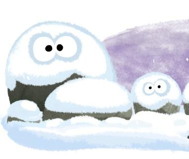 Google welcomes the arrival of winter -- and summer -- with new Doodles