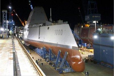 Zumwalt-class destroyer visited by Sec. Hagel